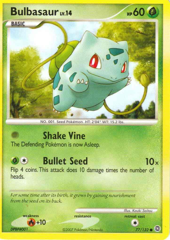 Bulbasaur Pokemon Card Images Pokemon Images